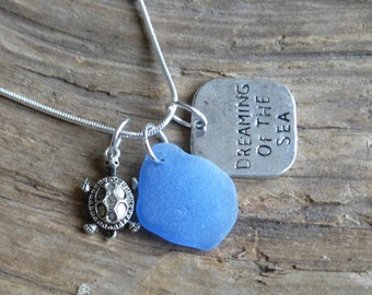 Sea Glass Necklace Sea Glass Jewelry, Dreaming of the sea