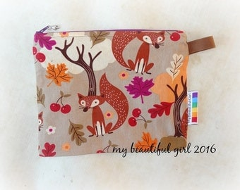 Forest Fox Zippered & Waterproof Mini Wetbag, 6x8 - INSTOCK
