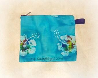 Hibiscus Watercolor Zippered & Waterproof Mini Wetbag, 6x8 - Instock