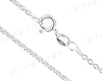 """20"""" 1.3mm Genuine Italian 925 Sterling Silver Anchor Chain Necklace"""