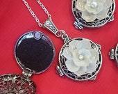 Shellflower Aromatheraphy Locket: Choose Pearl or Swarovski
