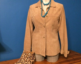 Vintage, tan suede, Lord and Taylor jacket