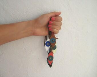 Evil Eye Bracelet. Gifts Under 10. Boho Leather Bracelet. To Mati Bracelet. Leather Jewelry. Womens Wrap Leather Bracelet.