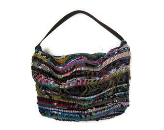 Boho Shoulder Kilim Bag. Colorful Bohemian Bag. Over the Shoulder Large Bag. Womens Gift. Hippie Bag. Sling Bag.Gift for Her.  Kourelou Bag