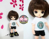 Felix brownie / pukipuki / Lati white sp / Obitsu 11 cm T-shirt