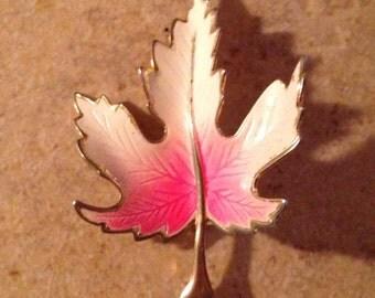 Maple Leaf Mod Brooch