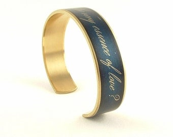 Jane Austen Quote - Bookworm - Book Nerd - Book Lover Gift - Pride and Prejudice Cuff Bracelet - Literary - Hostess Gift - Best Friend Gift