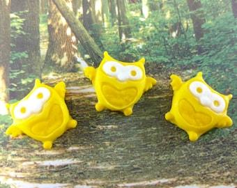 Fondant Owls-Fondant Cupcake Toppers-Set of 12 Fondant Owls-Cake Pop Toppers-Edible Owls
