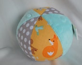 WOODLAND Cloth Jingle Ball Baby Toy with Fox and Deer fabric
