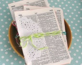 Sweet Bundle of VINTAGE German/English Dictionary Pages, Vintage Paper for Junk Journals, Smash Books, Collages, Papercraft - 10 Pages