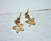 SALE - Star Outline Drop Stud Earrings