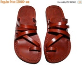 20% OFF Brown Buckle-Free Leather Sandals for Men & Women