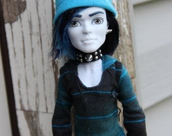 Spike Collar Choker Necklace Bracelet Earring Gothic Doll Jewelry for Petite Slimline Monster Boy Guy Male Dolls
