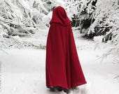 Red Riding Hood Wool Cape