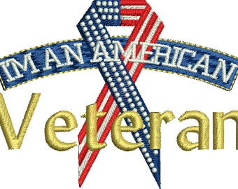 Im an American Veteran machine embroidery design