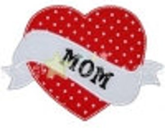 DIY Iron On Applique Patch, MOM HEART