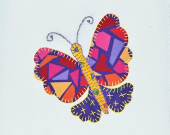 4 Butterfly Quilt Squares