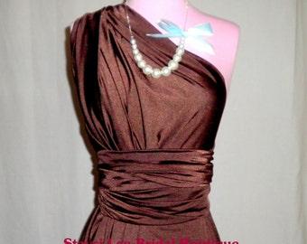 Chocolate Brown Boho Bridesmaids Dress ... 37 Colors... Infinity Convertible Dress,  Wedding Dress, Bohemian Dress,  Maternity Dress