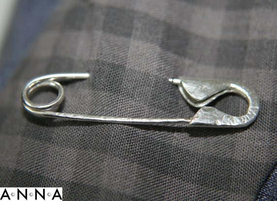 Handmade in GB recycled sterling silver solidarity Safety Pin