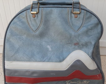 Vintage Brunswick Bowling Bag Grays With Red