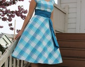 Womens Teens Sewing Pattern swing dress circle skirt with sash Sew Chic Ginseng #LN1516