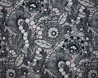 Ghastlies Gardenia in Mauve from Alexander Henry sold in 1/2 yard increments