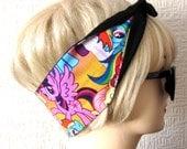 My Little Pony Hair Tie Fabric Head Scarf by Dolly Cool Comic Book Strip Boom Pow Zap Superhero