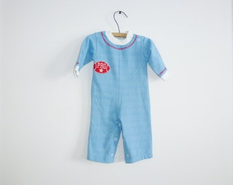 Vintage Baby Boy Football Outfit