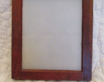 Antique  Film developing tray glass and wood photo plate