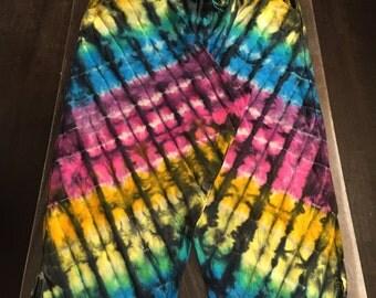 Rainbow tiedye Cotton Drawstring lounge pants size 16/18