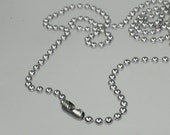 Wholesale Lot Sale 50pcs of 24 inch (60cm) STAINLESS Steel Ball Chain Necklace - 24 inch -  2.4mm ball chain,Wholesale Lot Sale