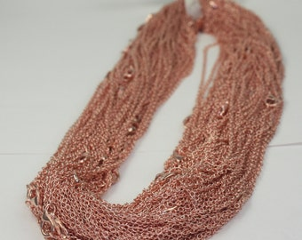 5 pcs of Ready to wear Copper Plated SOLDERED Cable Chain Necklace with Lobster Clasp - 20inch(52cm) - Ship from USA