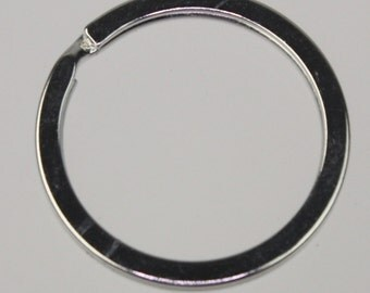 SALE Sale 20 pcs of rhodium Plated Split Ring Keyring Key Chain Fob - 30mm - ship from California USA