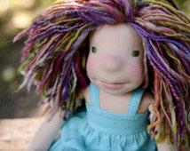 "Waldorf Inspired Doll Organic Doll Mermaid Doll Ragdoll 12"" Doll ~ Tigerlily ~ Ready To Ship!"