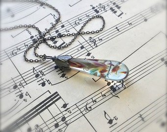 Glass Pendulum Necklace by Bullseyebeads - READY TO SHIP