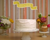 Custom Cake Banner No. 2 plus 2 Flag Hearts