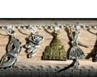 ON SALE Phantom of the Opera Inspired Charm Bracelet