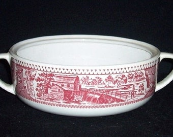 Vintage Pink MEMORY LANE Casserole Royal China USA Excellent~No Lid