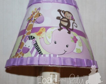 Plum Jungle Animal Safari NIGHT LIGHT for Girls Bedroom Baby Nursery NL0010