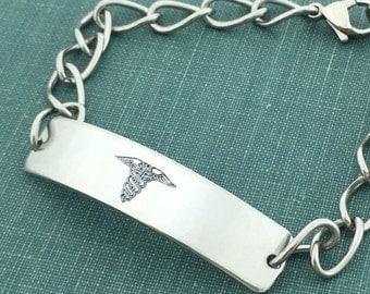 Medical ID Bracelet, Medical Bracelet, Medical Alert Bracelet, Medical Alert Jewelry, Medical ID Jewelry, Life Alert, ID Bracelet