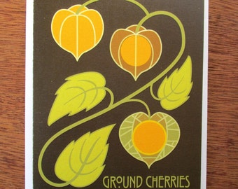 Ground Cherries Note Card