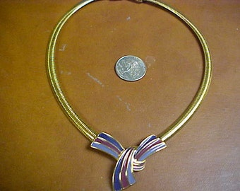 Trifari necklace with flexible snake