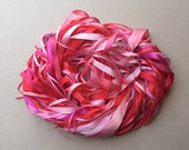 Silk Ribbon Remnants - Pink and Red