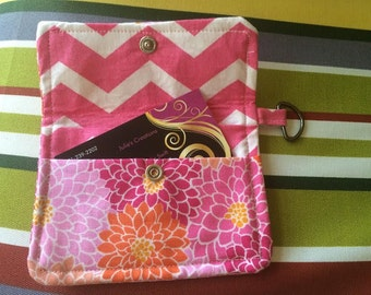 Orange and Pink Flowers, Credit Cardholder, cardholder