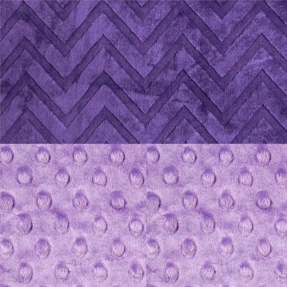 Personalized Baby Blanket / Minky Baby Blanket Girl / Purple Embossed Chevron Lilac, Receiving Blanket, Monogrammed Blanket, Baby Gift