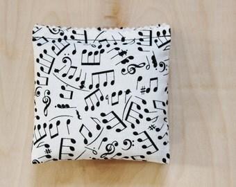 Musical Notes Lavender Sachets - Black & White Drawer Sachets - Music Teacher Gift
