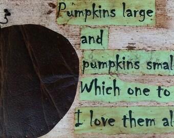 Halloween Fall sign Pumpkins