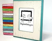 """8x8 picture frame, square frame, photo picture frame,Colored frame, Chunky 2.5"""" wide, bright frame, distressed frame, weathered 8x8 frame"""