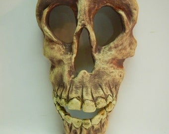 Skull Ceramic Mask-Stoneware Skull Mask