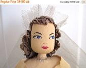 SALE 20% OFF NON-Linens Vintage Bride Doll Crepe Paper Wedding Centerpiece Large Size Figurine